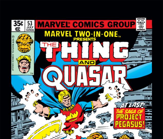 Marvel Two-in-One (1974) #53 Cover