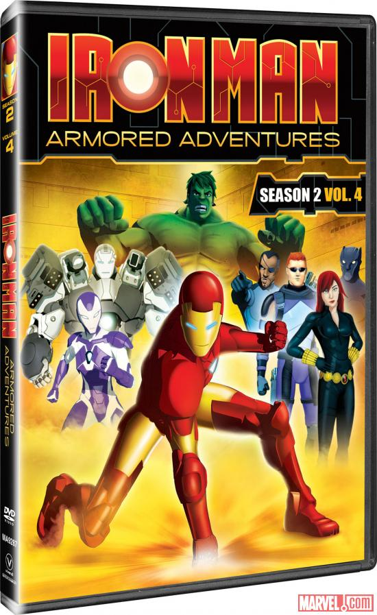 Iron Man: Armored Adventures Season 2, Vol. 4 DVD box art