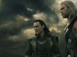 Tom Hiddleston and Chris Hemsworth star as Loki and Thor in Marvel's Thor: The Dark World