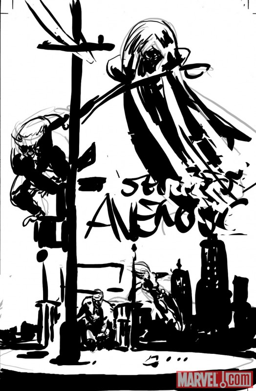 SECRET AVENGERS cover sketch number two by Mike Deodato