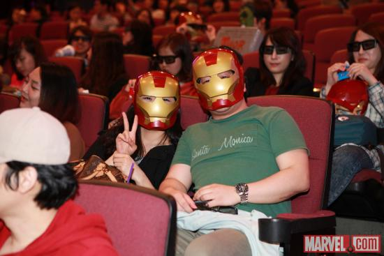 "Fans took after their favorite Avenger during a special ""Marvel's The Avengers"" event in Seoul"