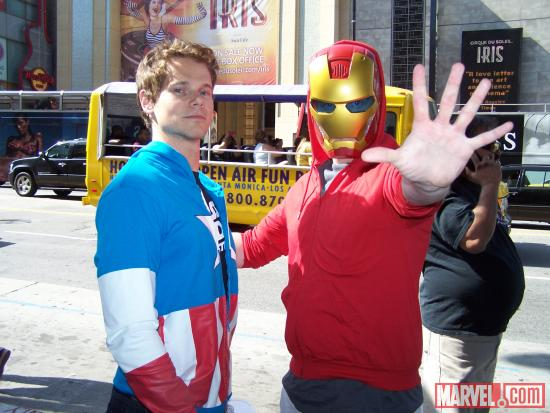 Avengers fans at El Capitan Theatre's midnight screening of Marvel's The Avengers