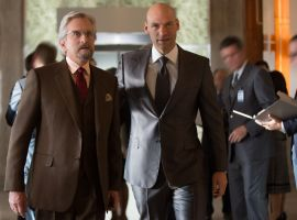 Hank Pym with Darren Cross