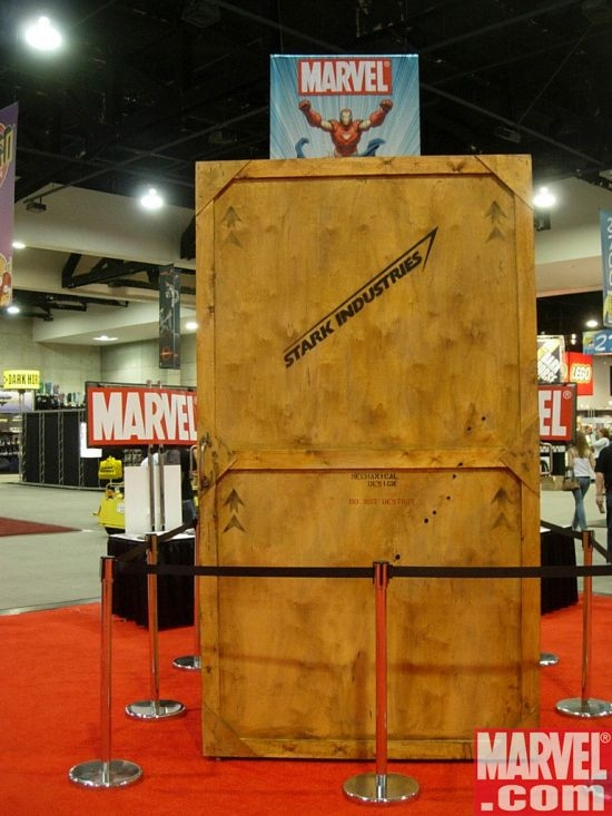 The mystery box that was revealed to contain the Iron Man armor