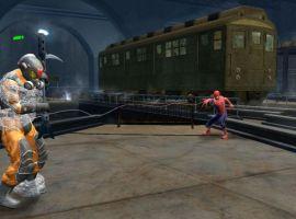 Spider-Man webbing thugs