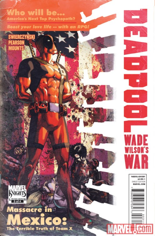 DEADPOOL: WADE WILSON'S WAR #3 cover by Jason Pearson