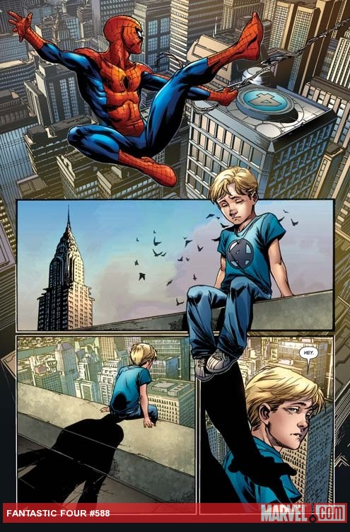 Fantastic Four #588 preview art by Mark Brooks