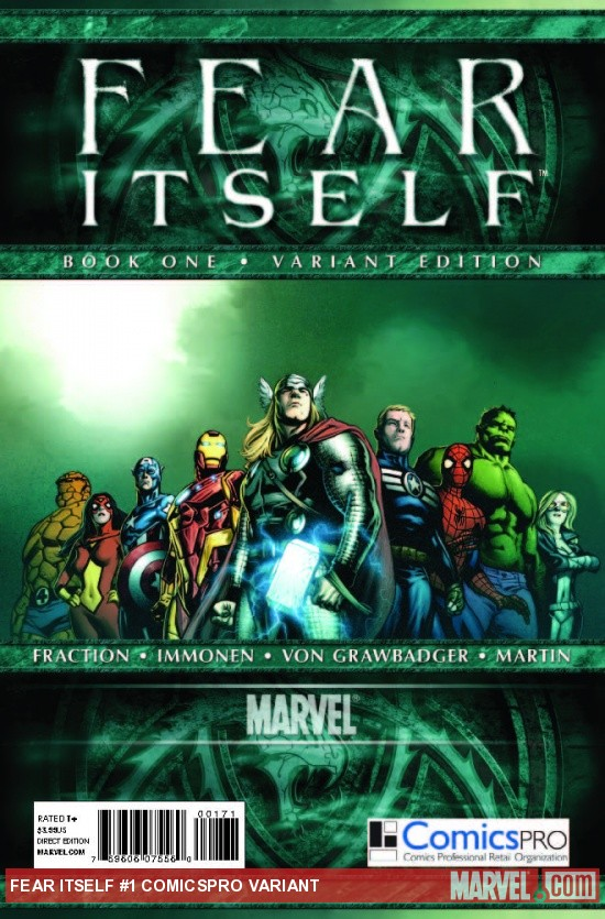 FEAR ITSELF 1 COMICSPRO VARIANT