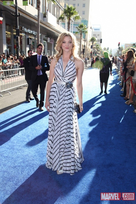 Natalie Dormer at the Captain America: The First Avenger world premiere