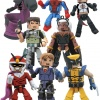 Marvel Minimates Spider-Man, Wolverine, Super-Skrull, and Storm