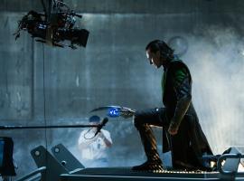 Tom Hiddleston (Loki) on the set of Marvel's The Avengers