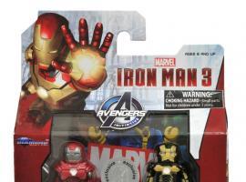 Iron Man 3 Minimates Silver Centurion and Skeleton Armors