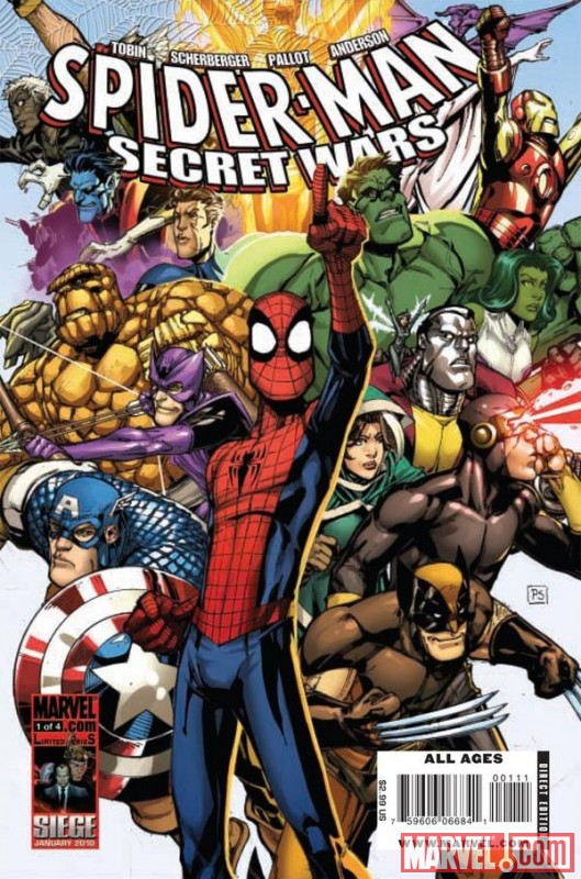 SPIDER-MAN & THE SECRET WARS #1 cover by Patrick Scherberger