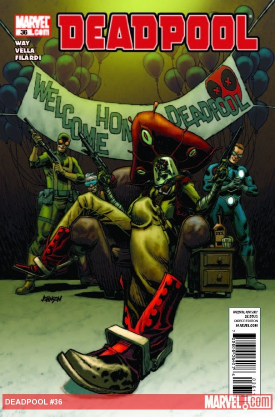Deadpool (2008) #36 cover by Dave Johnson