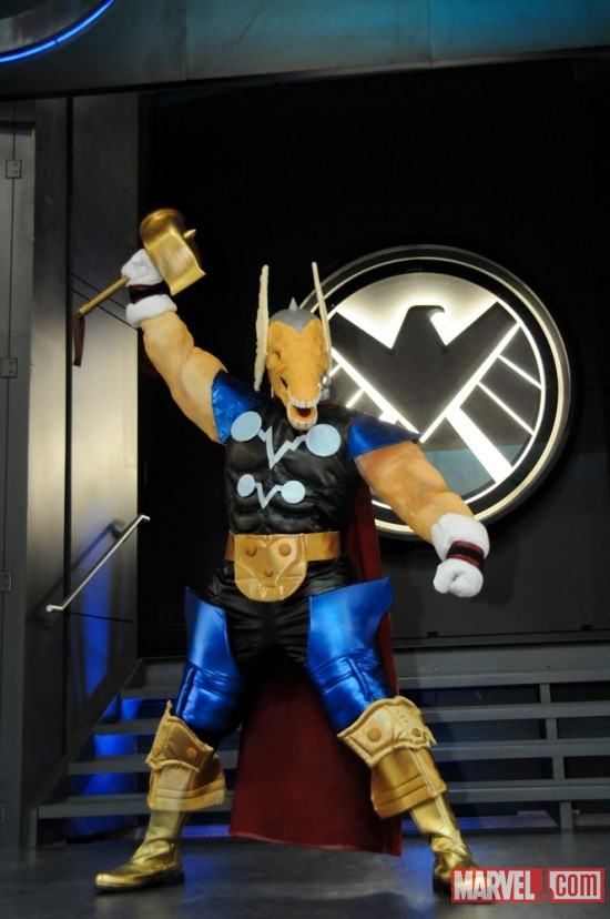 San Diego Comic-Con 2011: Beta Ray Bill Costumer at the Costume Contest sponsored by Oxygen
