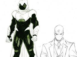 Moon Knight sketches by Ron Ackins