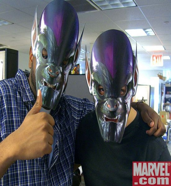 The Skrulls infiltrate the Marvel offices...