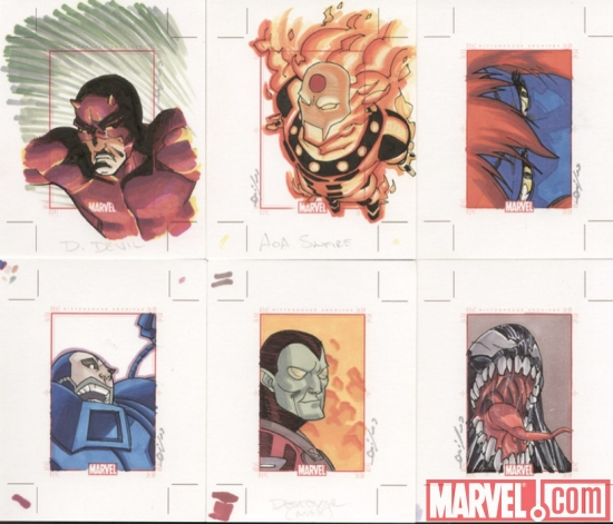 Marvel 70th Anniversary sketch card by Dan Quiles