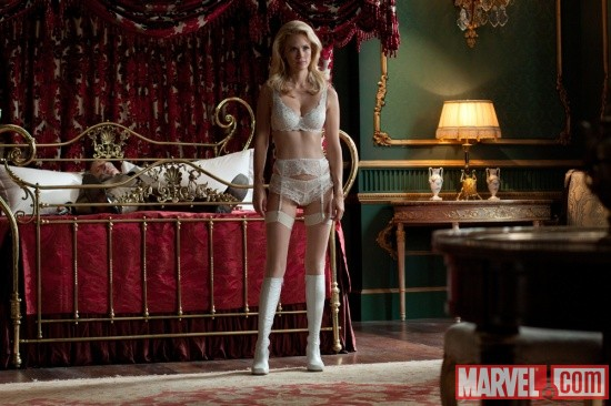 January Jones stars as Emma Frost in X-Men: First Class