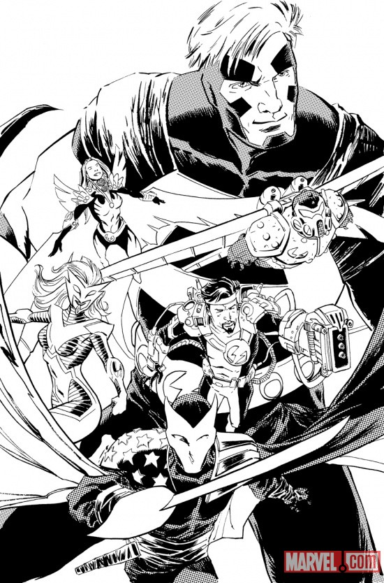 Thunderbolts #163.1 preview inks by Declan Shalvey