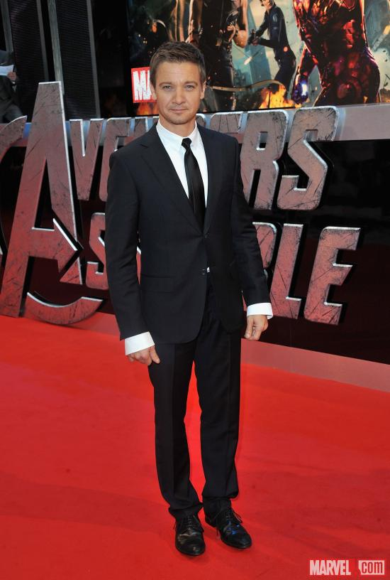 "Jeremy Renner at the London premiere of ""Marvel's The Avengers"""