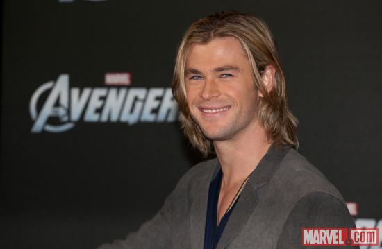Chris Hemsworth (Thor) at the premiere of Marvel's The Avengers in Berlin