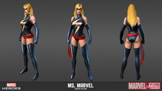 Ms. Marvel character render from Marvel Heroes