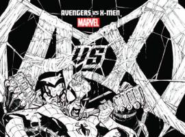 AVENGERS VS. X-MEN 9 STEGMAN SKETCH VARIANT (1 FOR 200, WITH DIGITAL CODE)