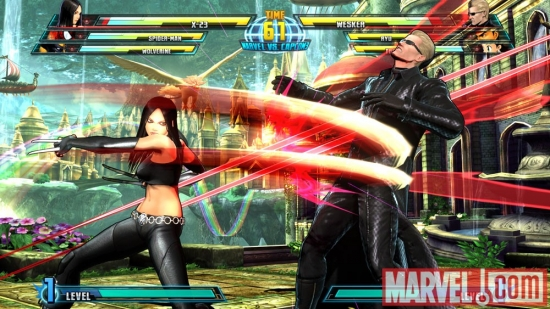 X-23 vs. Wesker in Marvel vs. Capcom 3