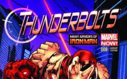 THUNDERBOLTS 8 STROMAN IRON MAN MANY ARMORS VARIANT (NOW, 1 FOR 20)