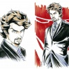 Tony Stark character design for the Iron Man anime