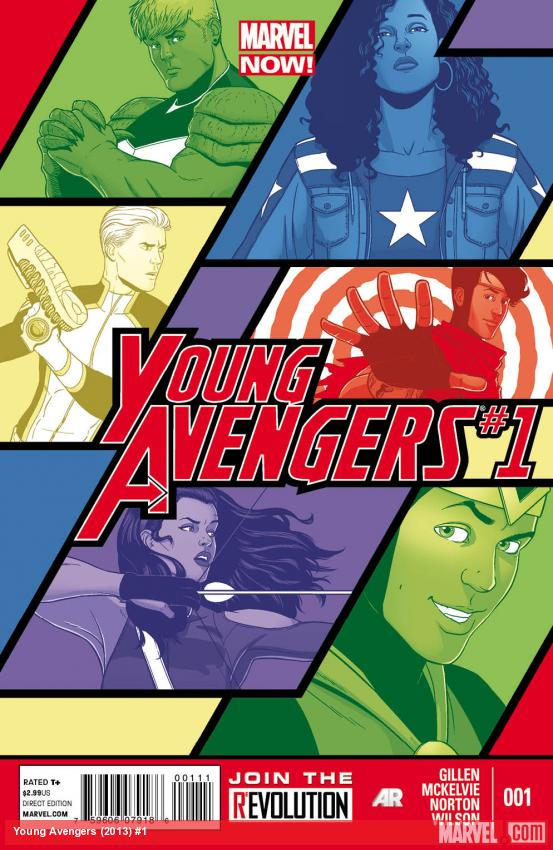 Young Avengers (2013) #1 cover by Jamie McKelvie