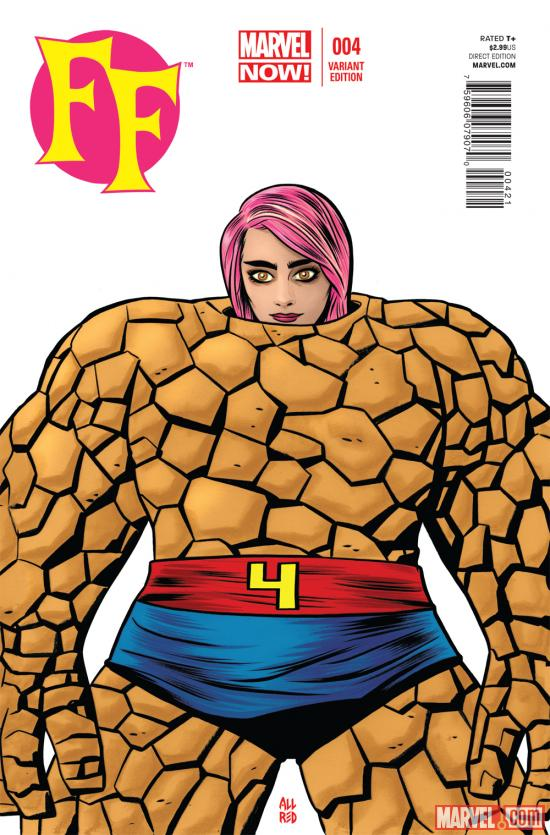FF (2012) #4 variant cover by Mike Allred