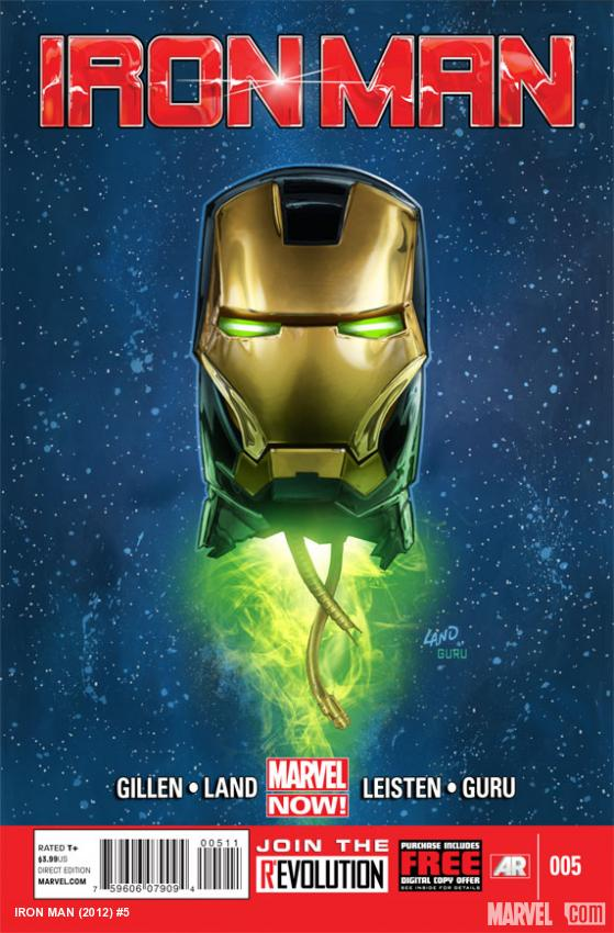 Iron Man (2012) #5 cover by Greg Land
