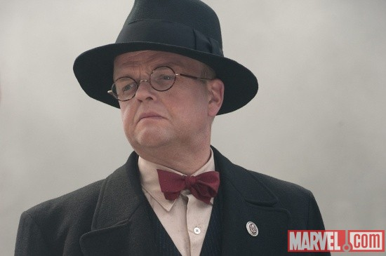 Toby Jones stars as Arnim Zola in Captain America: The First Avenger