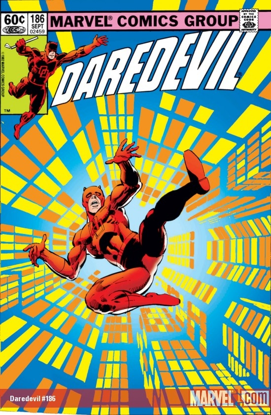 DAREDEVIL #186 COVER
