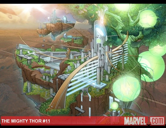 The Mighty Thor #11 preview art by Pasqual Ferry