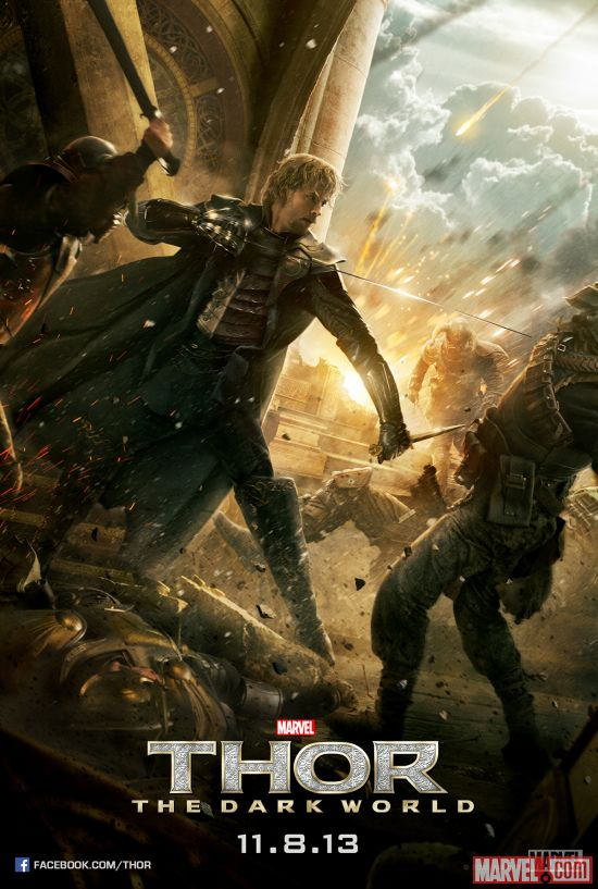 Fandral character poster from Marvel's Thor: The Dark World