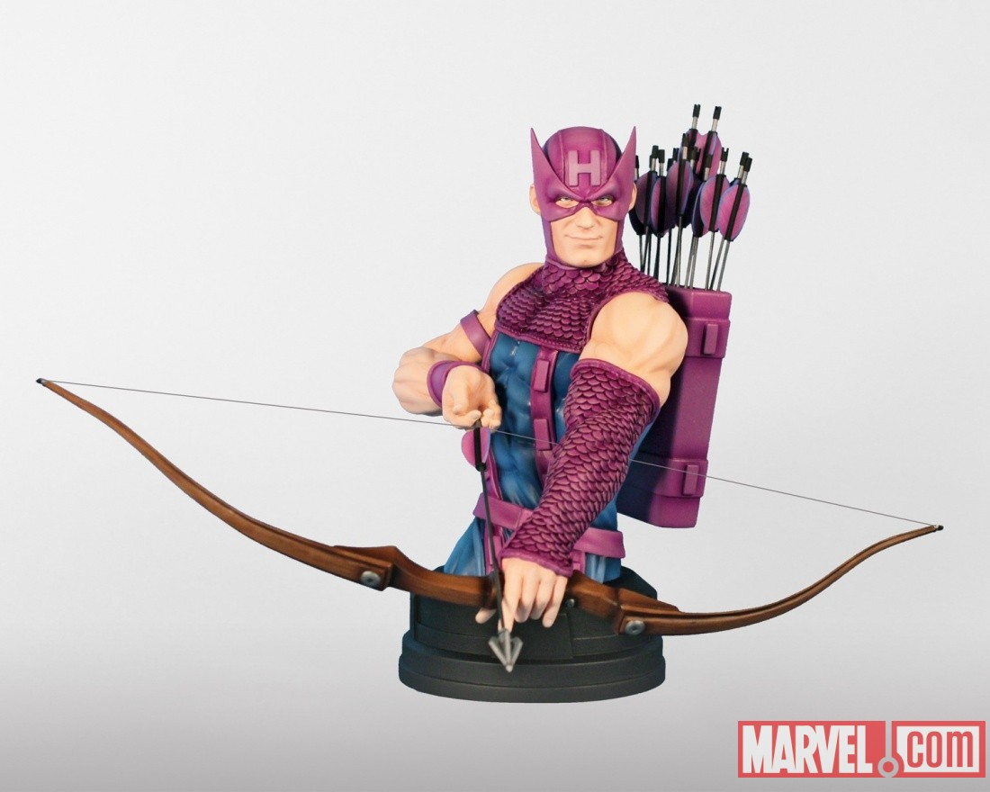 Hawkeye mini bust by Gentle Giant Ltd