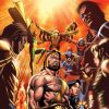 Image Featuring Hercules (Heracles), Gwen Stacy, U-Go Girl, Vision, Wasp, Ant-Man (Scott Lang), Aegis (Trey Rollins), Goliath (Bill Foster), Ancient One, Human Torch (Jim Hammond), Banshee, Amadeus Cho