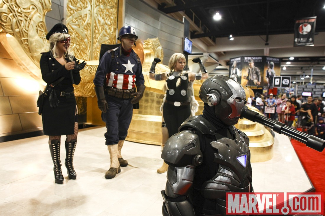Marvel Costume Contest - Winners Captain America, Lady Red Skull, Valkyrie and War Machine