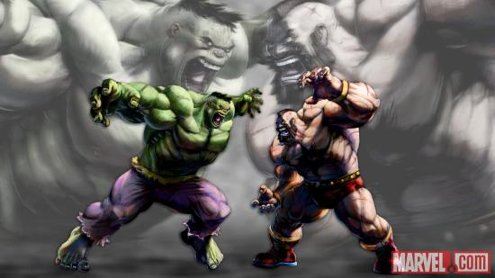 Hulk vs. Zangief screenshot
