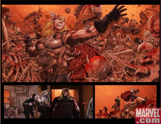 THOR: REIGN OF BLOOD Interior Spread