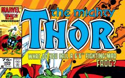 Thor #366 cover by Walter Simonson