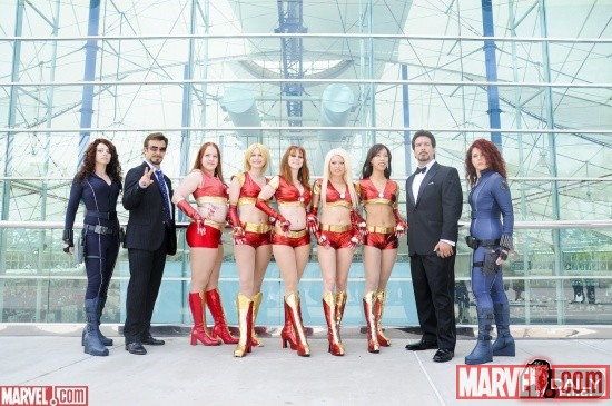 Iron Man &amp; Ironette cosplayers