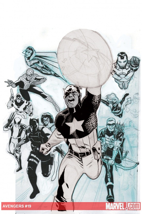 Avengers (2010) #19 in progress cover by Daniel Acuna
