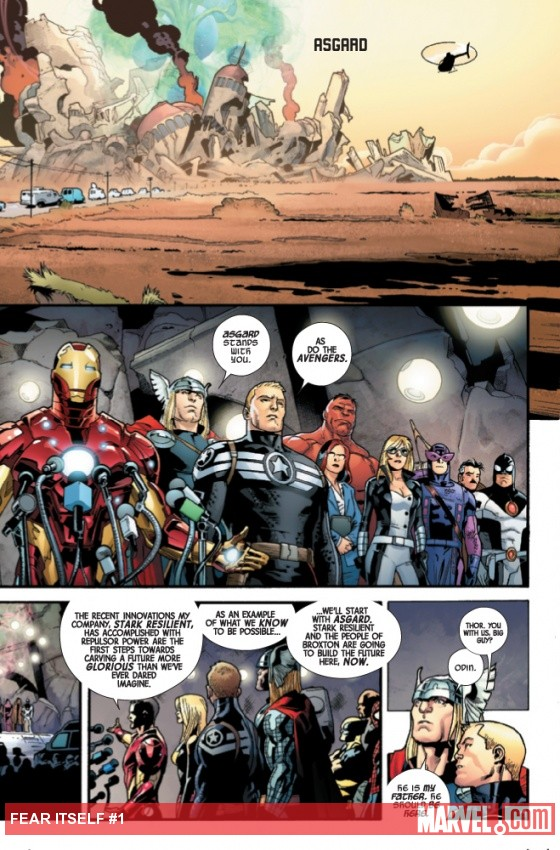 Fear Itself #1 preview art by Stuart Immonen
