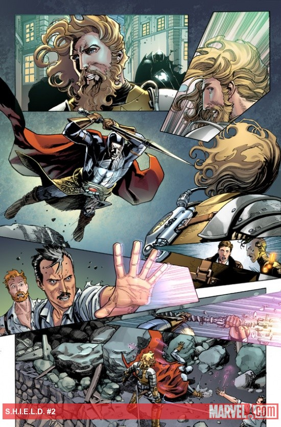 S.H.I.E.L.D. (2011) #2 preview art by Dustin Weaver