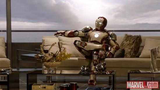 Iron Man's new suit in Iron Man 3