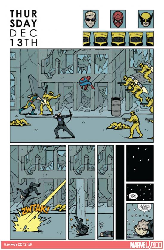 Hawkeye (2012) #6 preview page by David Aja